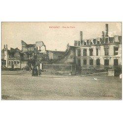 carte postale ancienne 54 BACCARAT. Rue des Ponts 1916