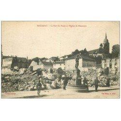 carte postale ancienne 54 BACCARAT. Rue des Ponts 1916 Eglise de Deneuve