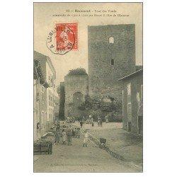 carte postale ancienne 54 BACCARAT. Tour des Voués 1908