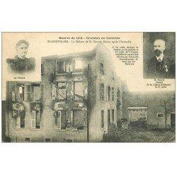 carte postale ancienne 54 BADONVILLER ou BADONVILLERS. Maison du Maire Benoît 1915