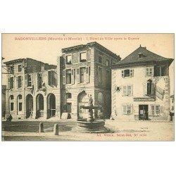 carte postale ancienne 54 BADONVILLERS ou BADONVILLER. Hôtel de Ville et Café des Halles