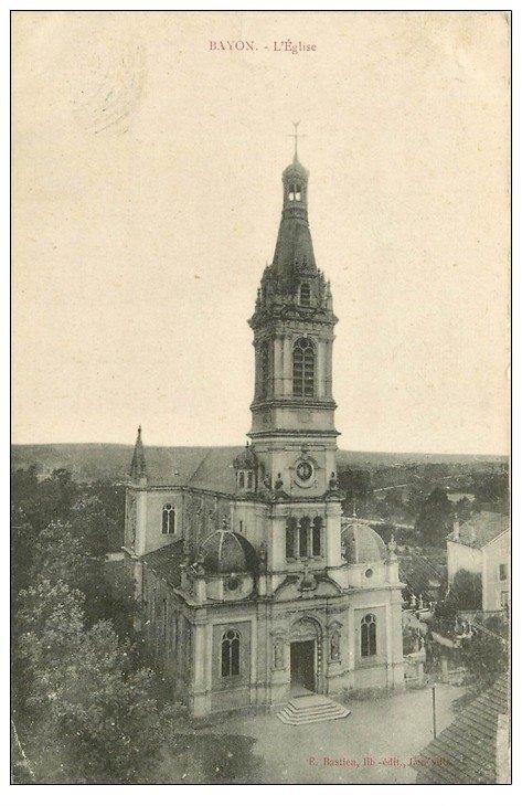 carte postale ancienne 54 BAYON. L'Eglise