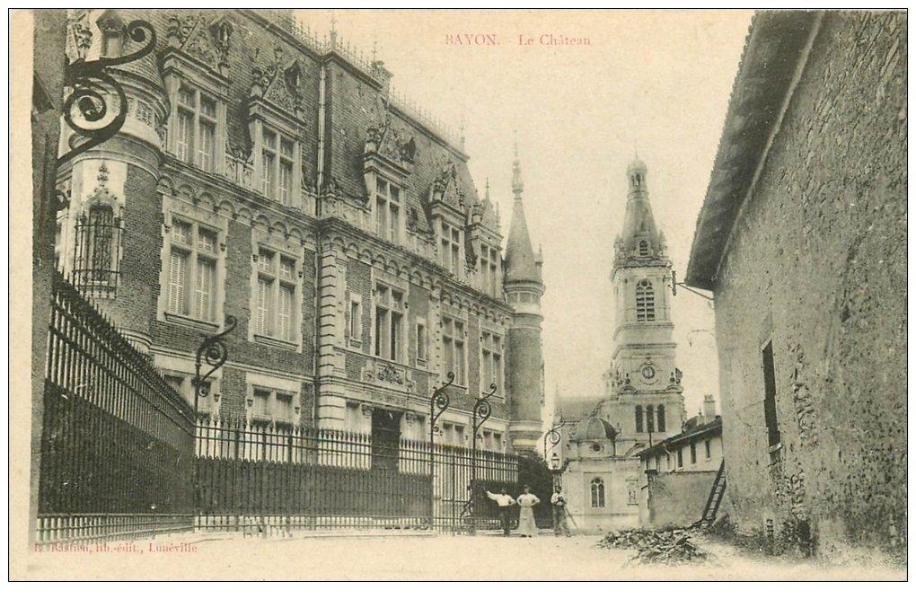 carte postale ancienne 54 BAYON. Ouvriers au Château