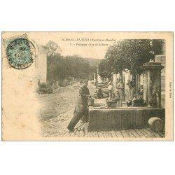 carte postale ancienne 54 BLENOD-LES-TOUL. Fontaine rue de la Barre 1905