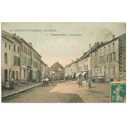 carte postale ancienne 54 BODONVILLER. Grande-Rue charette faite avec deux échelles...