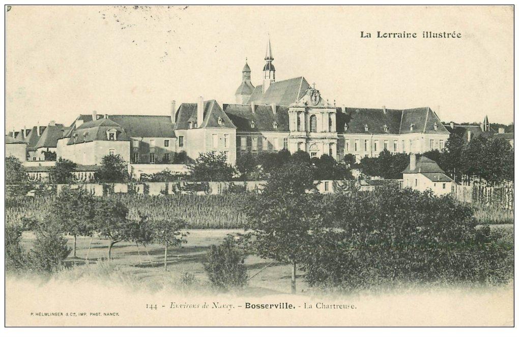 carte postale ancienne 54 BOSSERVILLE. La Chartreuse 1904