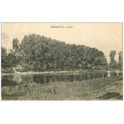carte postale ancienne 54 BOSSERVILLE. Le Bac 1918 avec Pêcheur