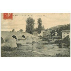 carte postale ancienne 54 BOUXIERES-AUX-DAMES. Pont et Village 1907