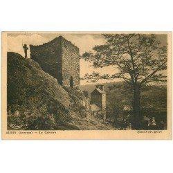 carte postale ancienne 12 AUBIN. Le Calvaire 1948