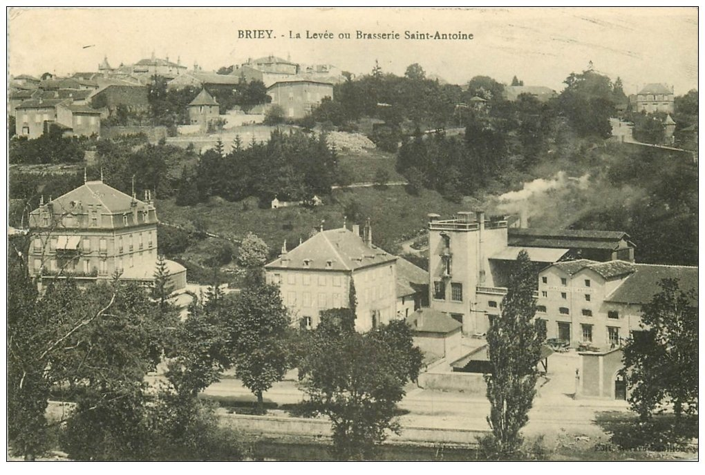 carte postale ancienne 54 BRIEY. La Levée ou Brasserie Saint-Antoine 1910