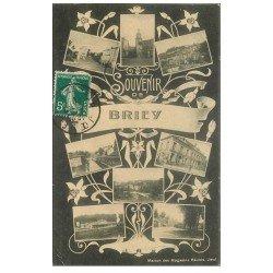 carte postale ancienne 54 BRIEY. Souvenir multivues 1910
