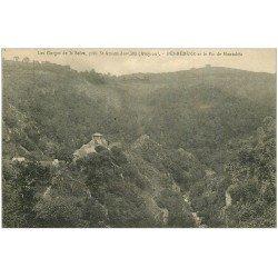 carte postale ancienne 12 BES-BEDENE. Pic de Montabès et Gorges de la Selve 1926