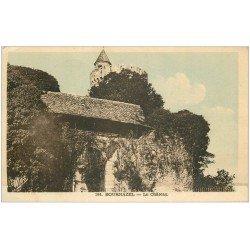 carte postale ancienne 12 BOURNAZEL. Le Château 1952