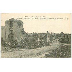 carte postale ancienne 54 GERBEVILLER. Bombardé et incendié