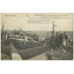 carte postale ancienne 54 GERBEVILLER. Discours du Maire Camus Monument des Héros du 36° Colonial