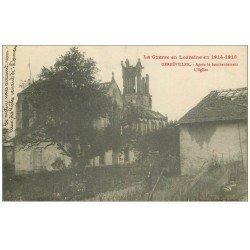 carte postale ancienne 54 GERBEVILLER. Eglise après le bombardement 1918