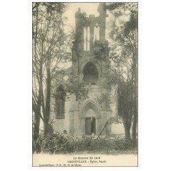 carte postale ancienne 54 GERBEVILLER. Eglise et Tampon de la Croix-Rouge