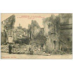 carte postale ancienne 54 GERBEVILLER. Rue de Lorraine et des Ponts