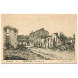 carte postale ancienne 54 GERBEVILLER. Une Rue en ruine. Café Restaurant