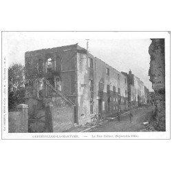 carte postale ancienne 54 GERBEVILLER-LA-MARTYRE. 1914 Rue Carnot