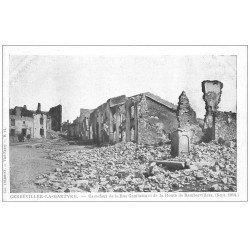 carte postale ancienne 54 GERBEVILLER-LA-MARTYRE. 1914 Rue Gambetta Route de Rambervillers