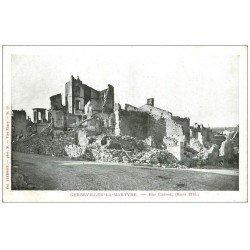 carte postale ancienne 54 GERBEVILLER-LA-MARTYRE. Vers 1914 Rue Carnot