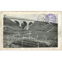 carte postale ancienne 54 GERBEVILLER-LA-MARTYRE. Viaduc Bronville et Tombes 1914