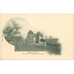 carte postale ancienne 12 Château de la Péze. Carte pionnière vers 1900 vierge