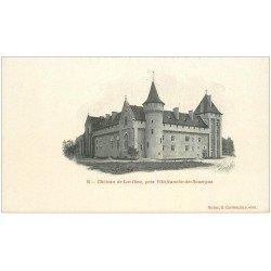 carte postale ancienne 12 Château de LOC-DIEU. Carte pionnière vers 1900 vierge