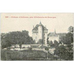 carte postale ancienne 12 Château d'HORTHONAC. Carte pionnière vers 1900 vierge