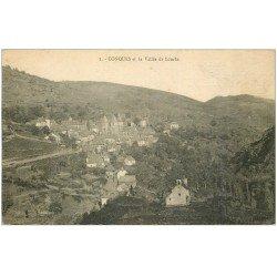 carte postale ancienne 12 CONQUES. La Vallée de Louche 1924