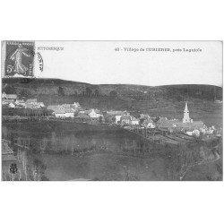 carte postale ancienne 12 CURIERES. Le Village 1909