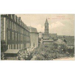 carte postale ancienne 12 DECAZEVILLE. Ecolières Cour Ecole Sainte-Foy 1924