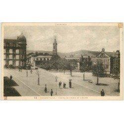 carte postale ancienne 12 DECAZEVILLE. Hôtel France et Eglise