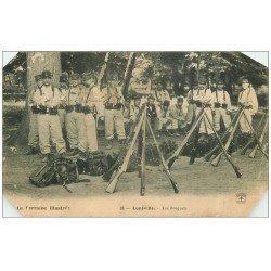 carte postale ancienne 54 LUNEVILLE. Militaires aux Bosquets 1907 (défauts)