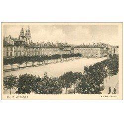 carte postale ancienne 54 LUNEVILLE. Place Léopold