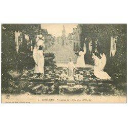 carte postale ancienne 54 LUNEVILLE. Procession Fête-Dieu à l'Hôpital