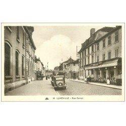 carte postale ancienne 54 LUNEVILLE. Rue Carnot Brasserie des Vosges