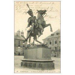 carte postale ancienne 54 LUNEVILLE. Statue Général Lasalle 1918