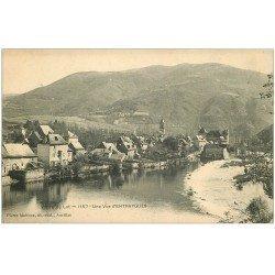 carte postale ancienne 12 ENTRAYGUES. Vallée du Lot