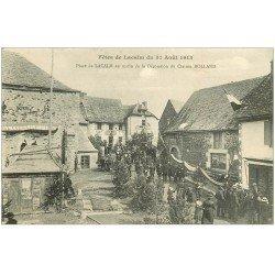carte postale ancienne 12 Fêtes de LACALM 1913. Matin de la Décoration du Clairon Rolland