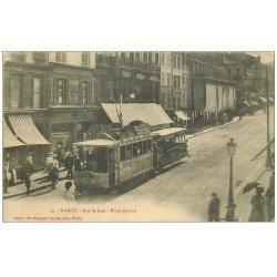 carte postale ancienne 54 NANCY. Tramway Rue Saint-Jean au Point Central. Compagnie Gaz de Nancy