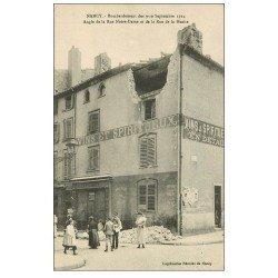 carte postale ancienne 54 NANCY. Vendeur de journaux Rues Notre-Dame et Hache. Bombardement de 1914