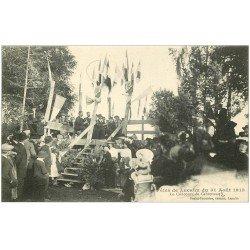 carte postale ancienne 12 Fêtes de LACALM. Le Concours de Cabrettes en 1913