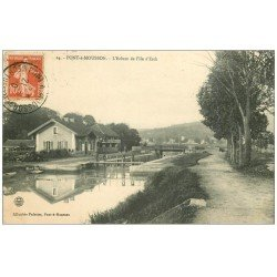 carte postale ancienne 54 PONT-A-MOUSSON. Ecluse Ile Esch 1910