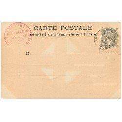 carte postale ancienne 54 PONT-A-MOUSSON. Eglise Saint-Martin Portail. Timbre 1 Centime 1902