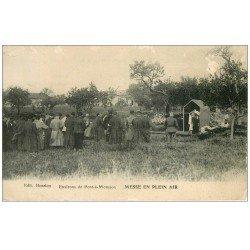 carte postale ancienne 54 PONT-A-MOUSSON. Messe en Plein Air 1915