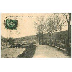 carte postale ancienne 54 PONT-A-MOUSSON. Promenade du Canal 1914 écluse