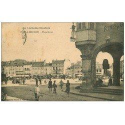 carte postale ancienne 54 PONT-A-MOUSSON. Rue Victor-Hugo Place Duroc