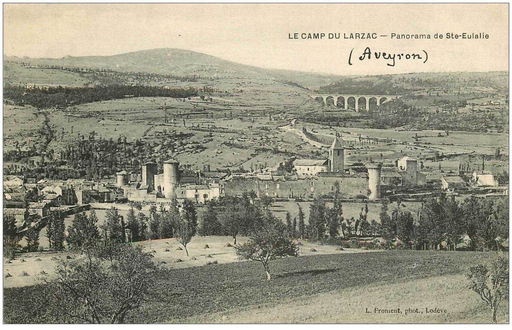 carte postale ancienne 12 LE CAMP DU LARZAC. Sainte Eulalie 1906